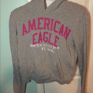 American Eagle Pullover Heather Gray Sweatshirt